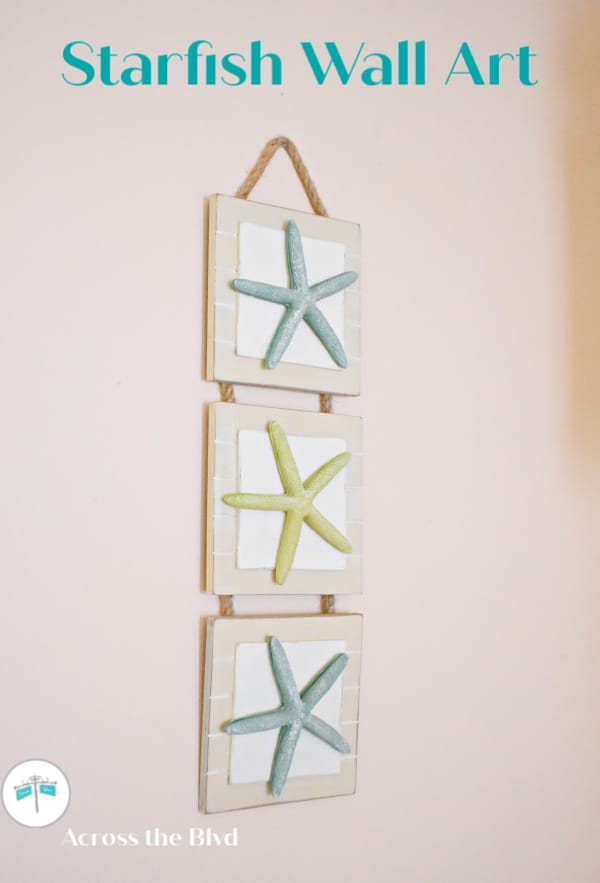 tuesday turn about summer coastal starfish wall hanging