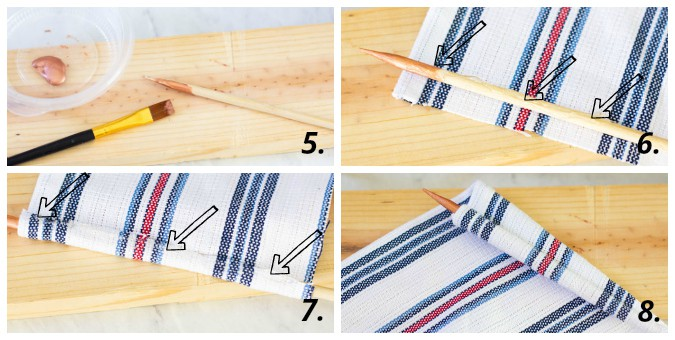 diy mini flags collage of tutorial steps