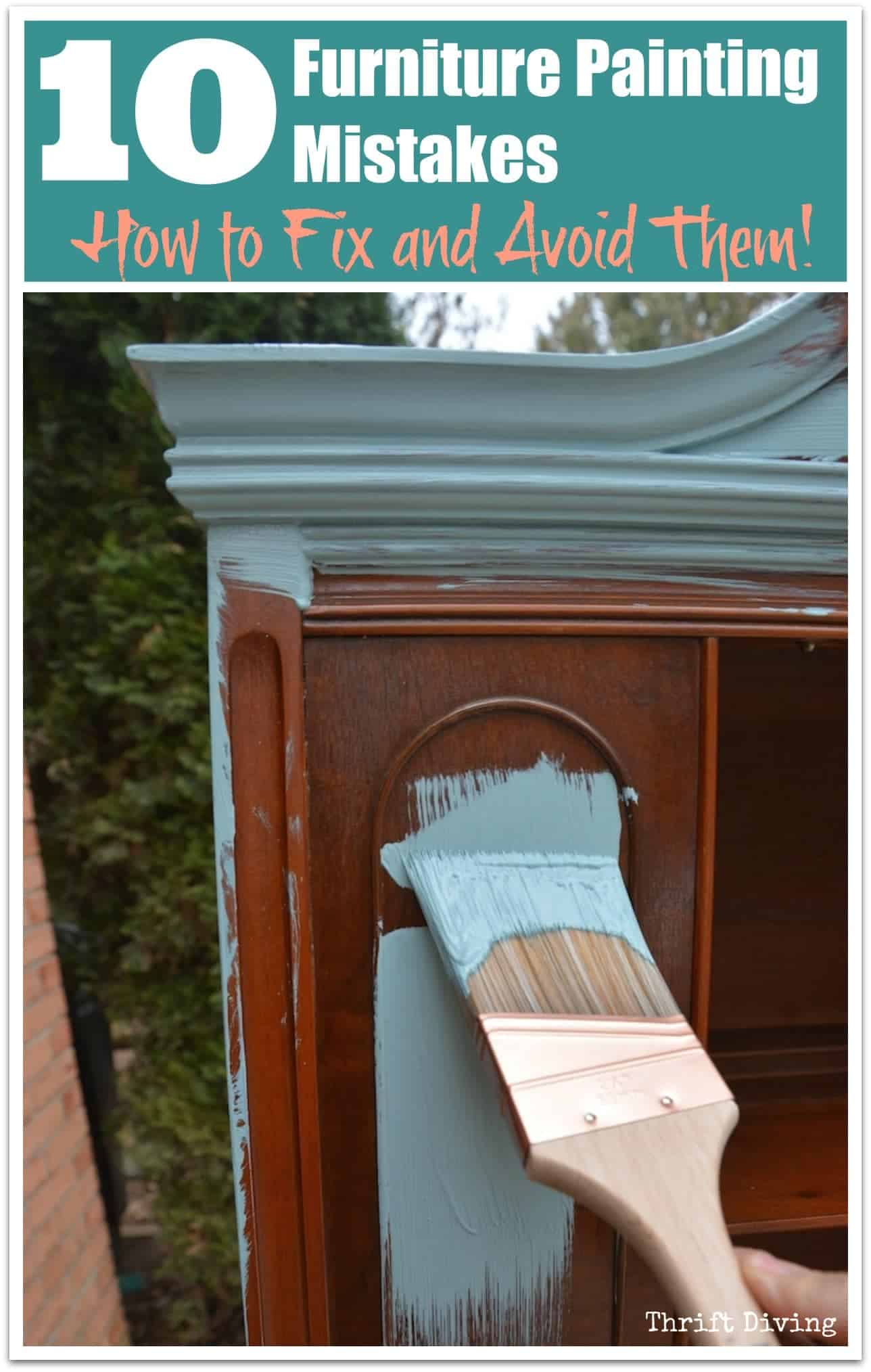 tuesday turn about summer furniture projects paint brush with blue paint on wood furniture