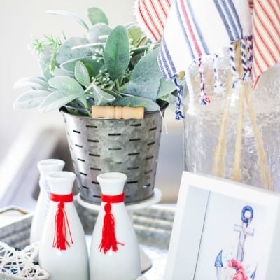 How to Tone Down Red White and Blue Decor