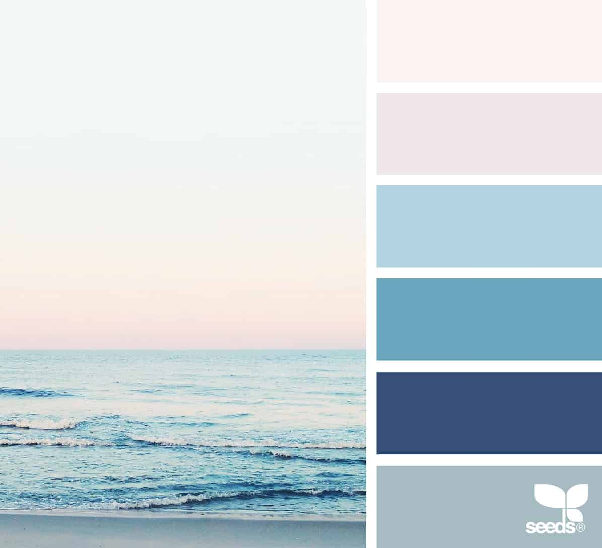 ocean view with sunset and palette
