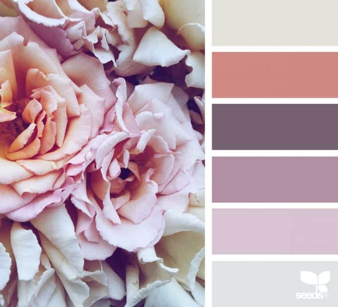 bathroom color schemes bundle of roses and flowers with color palette