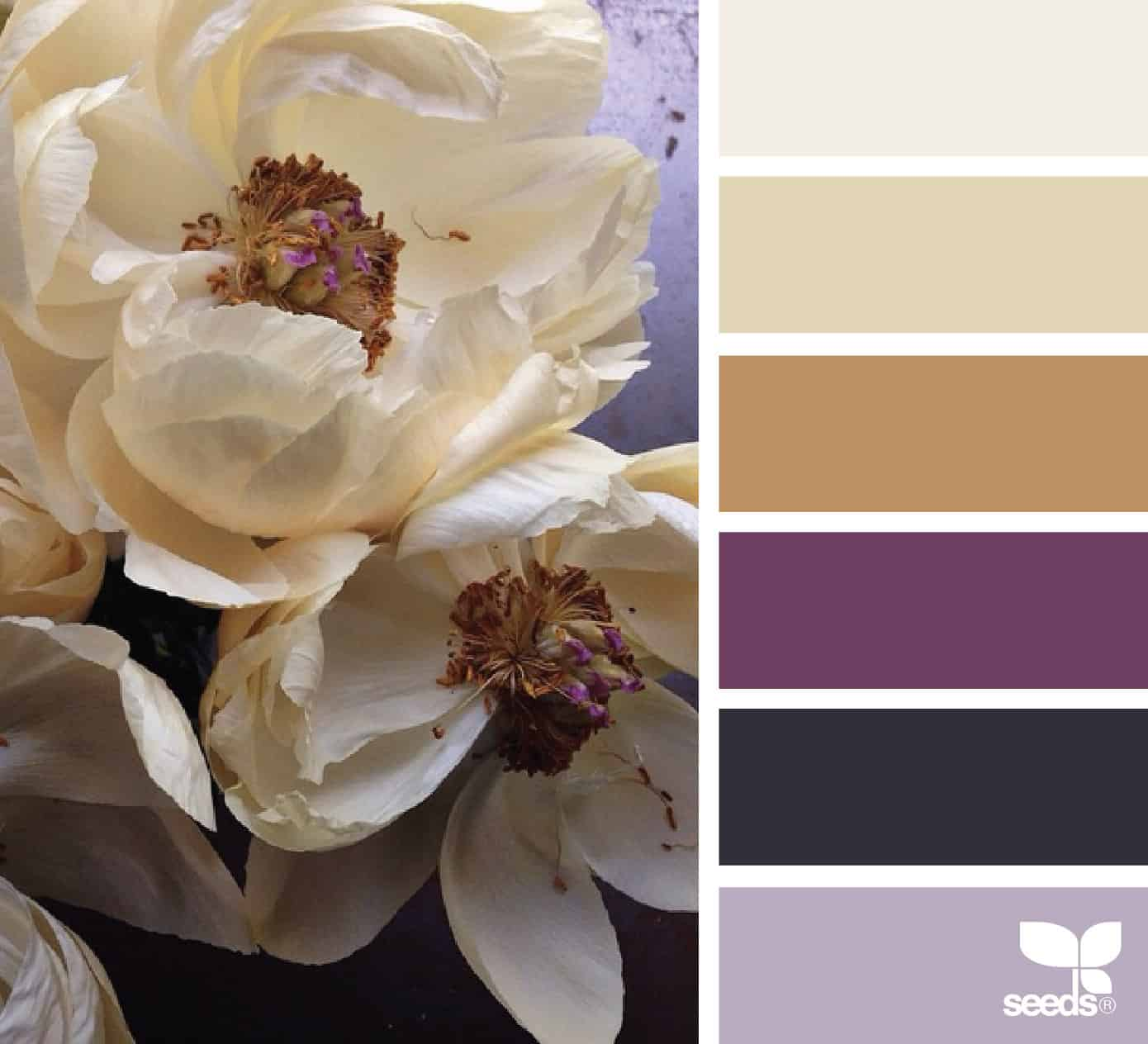 bathroom color schemes magnolia flowers and palette