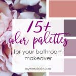 color palette in pinks and roses for a bathroom
