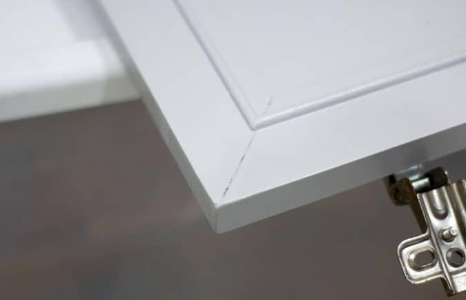 diy cabinet door repair finished