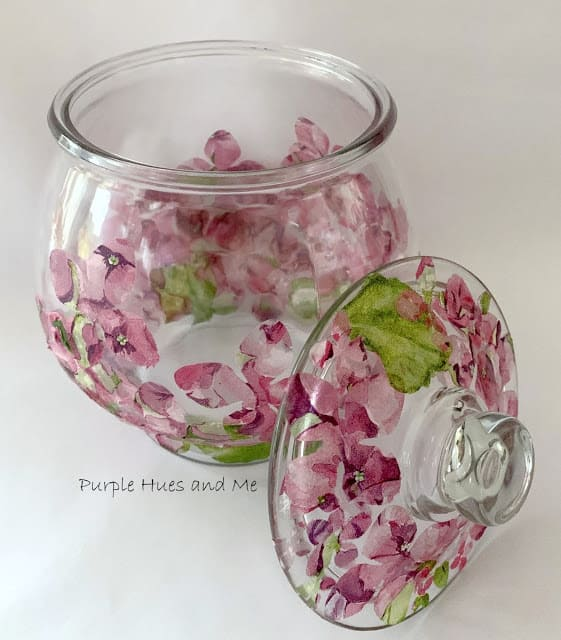 tuesday turn about july inspiration decoupaged jar