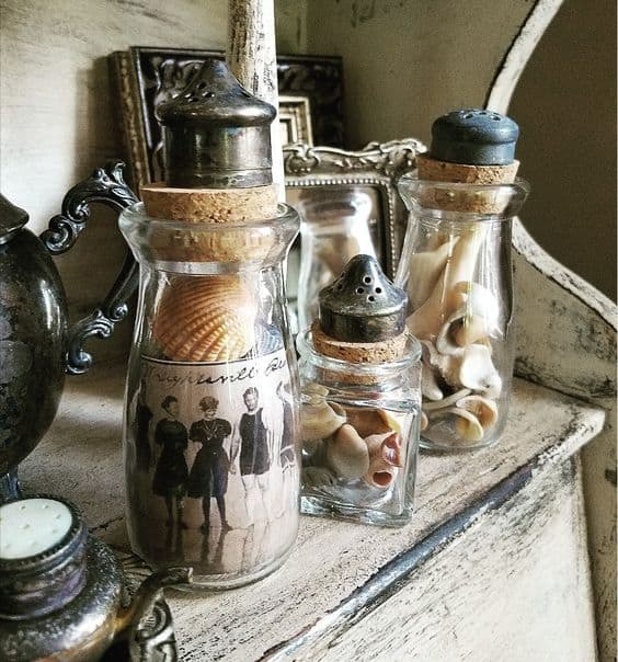 tuesday turn about fun in july photo of bottles and caps with seashells inside