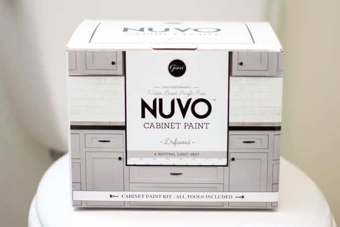 box with nuvo cabinet paint kit