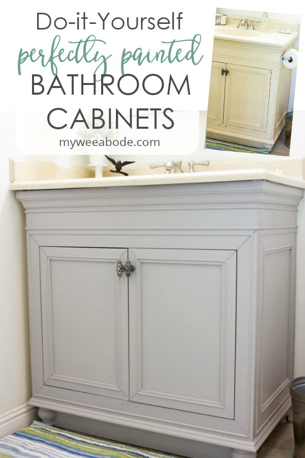diy painted bathroom cabinets