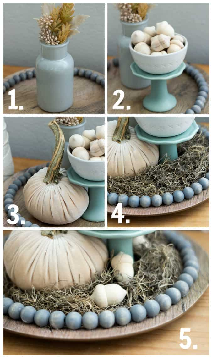 steps to add neutral fall elements to a cloche