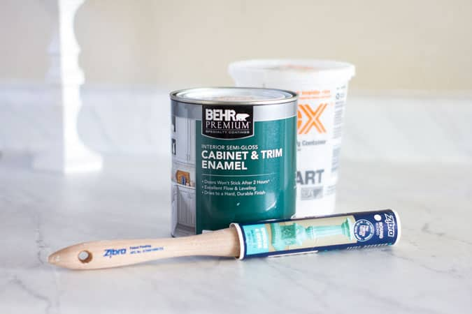 behr cabinet and trim paint with Zibra paint brush