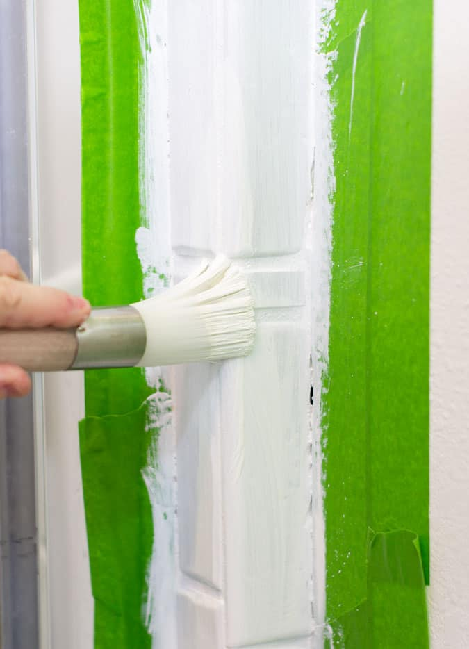 paint a shower tile surround images of ugly brown shower tile surround zibra round brush with frog tape
