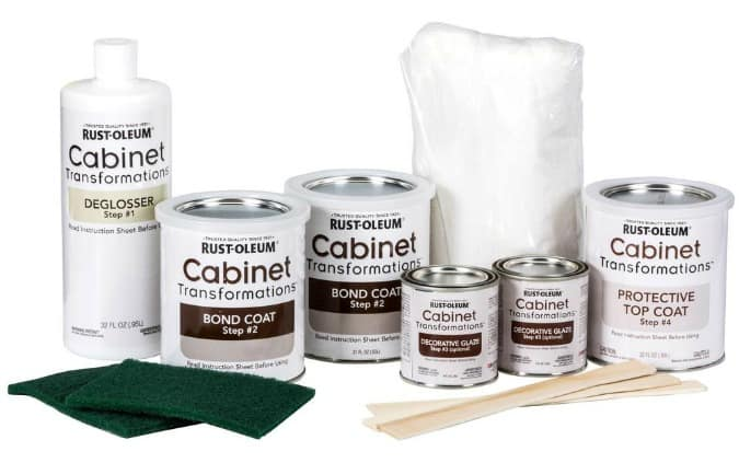 paint kit with tools and cans