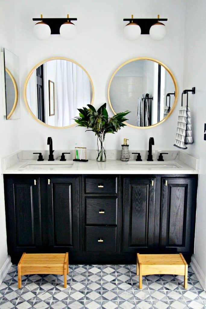 painted cabinets roundup black vanity with glamorous accessories
