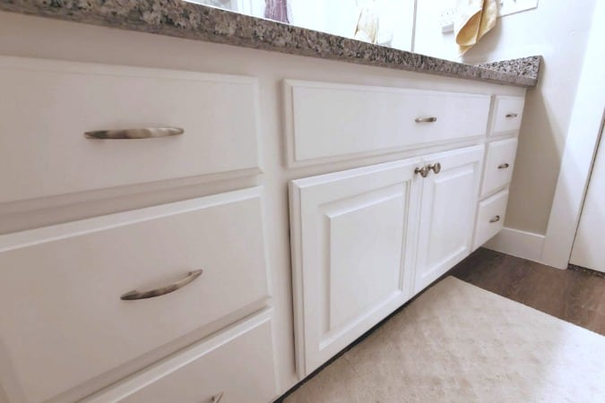 painted bathroom cabinets roundup white cabinet with granite counter