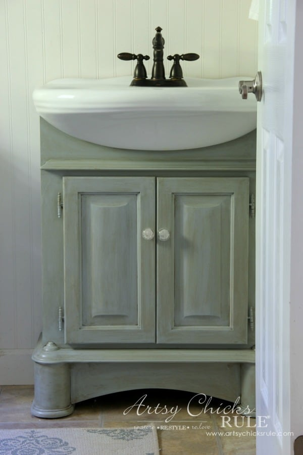 painted bathroom cabinets roundup muted blue vanity with apron sink