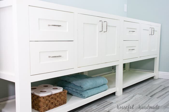 painted bathroom cabinets roundup white cabinet with open shelves and towels with baskets