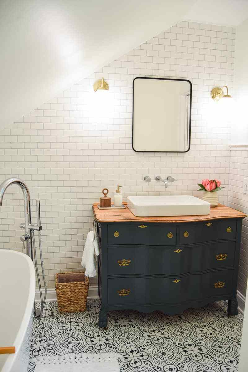 painted bathroom cabinets roundup deep green vintage vanity in bathroom with farmhouse style
