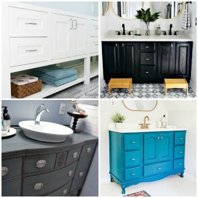 15 Painted Bathroom Cabinets to Fit Any Style