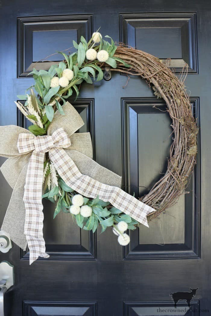 tuesday turn about fall wreath fun grapevine wreath with florals and ribbon