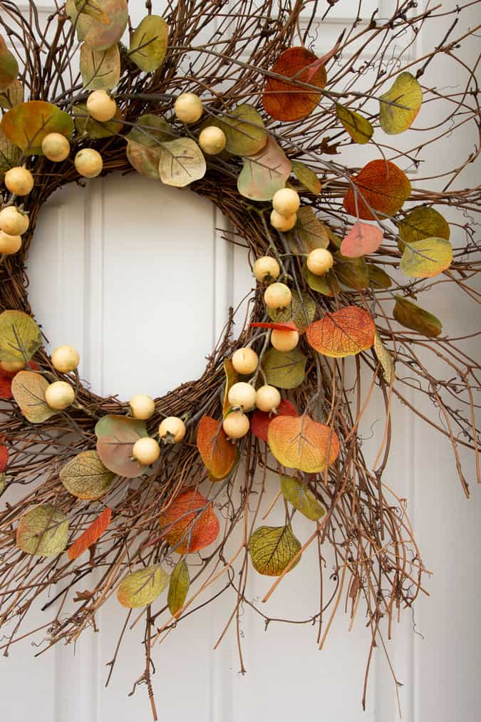 apartment fall decor fall wreath on front door