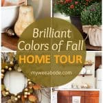 apartment fall decor collage