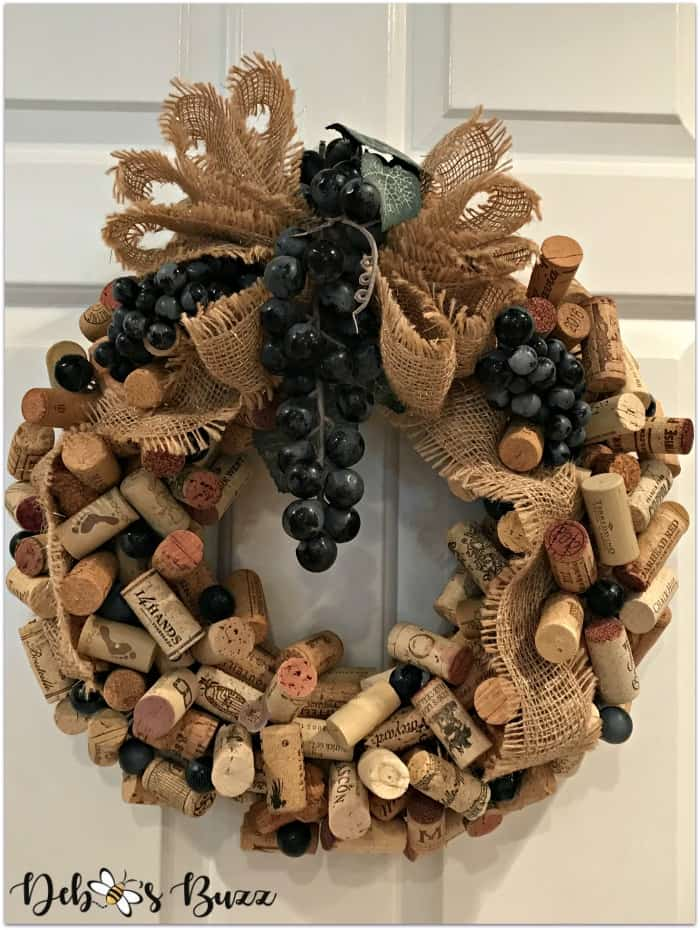 tuesday turn about 67 fallebration cork wreath with grapes