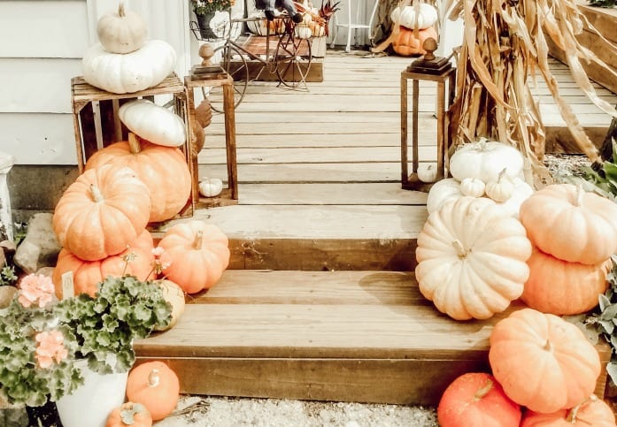 tuesday turn about 68 fall porch with rustic lanterns