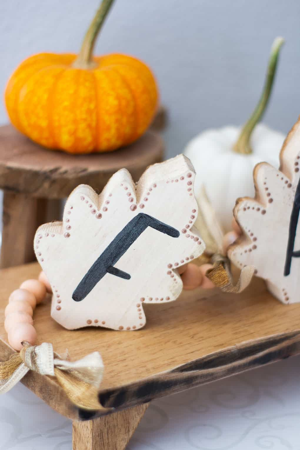 How To Make A Wood Leaf Garland For Fall My Wee Abode