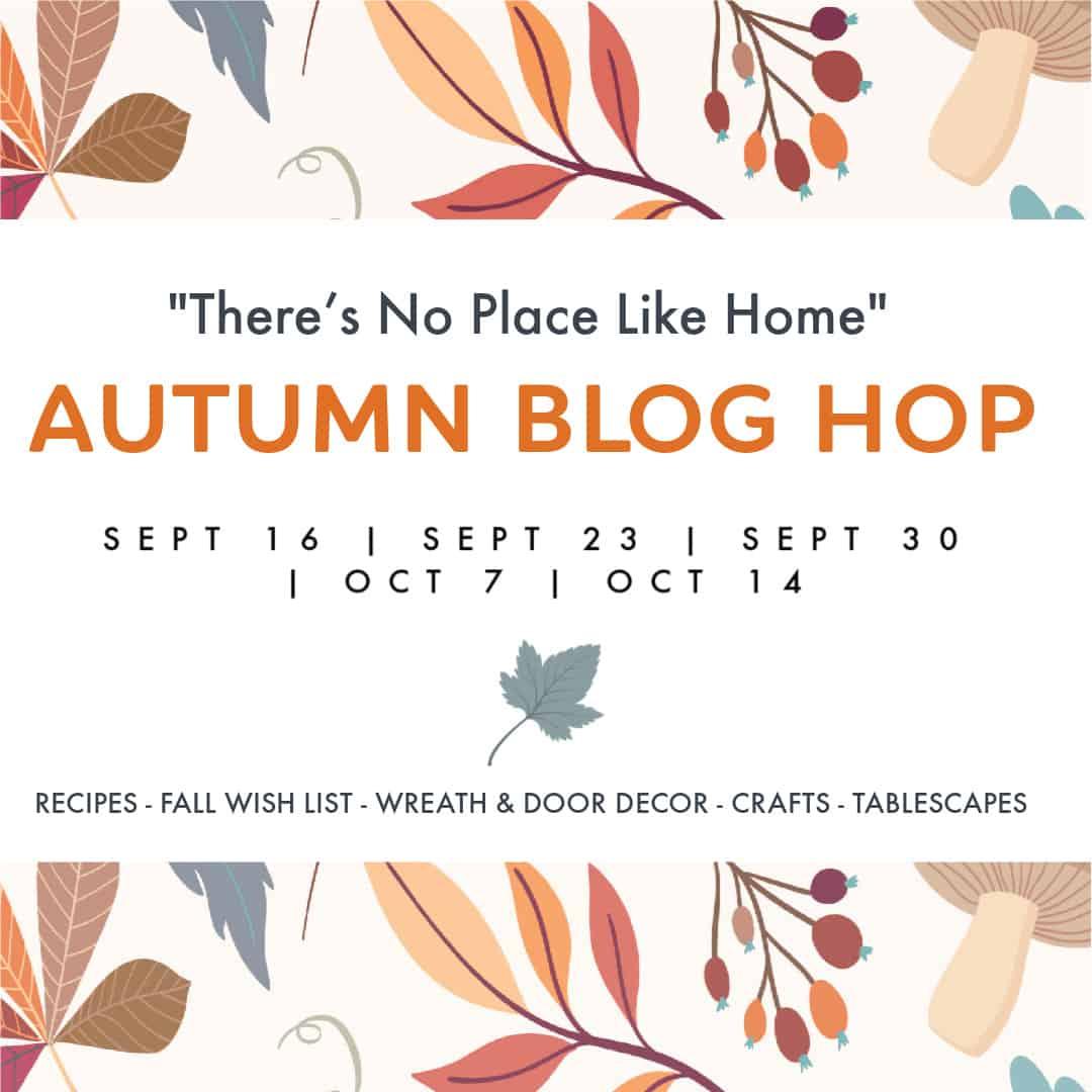 fall wood leaf garland banner for blog hop