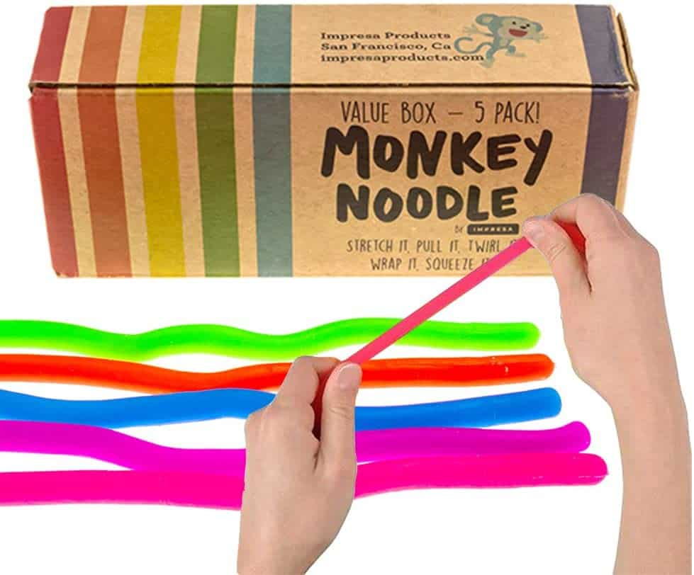 kids quiet toys stretchy noodles