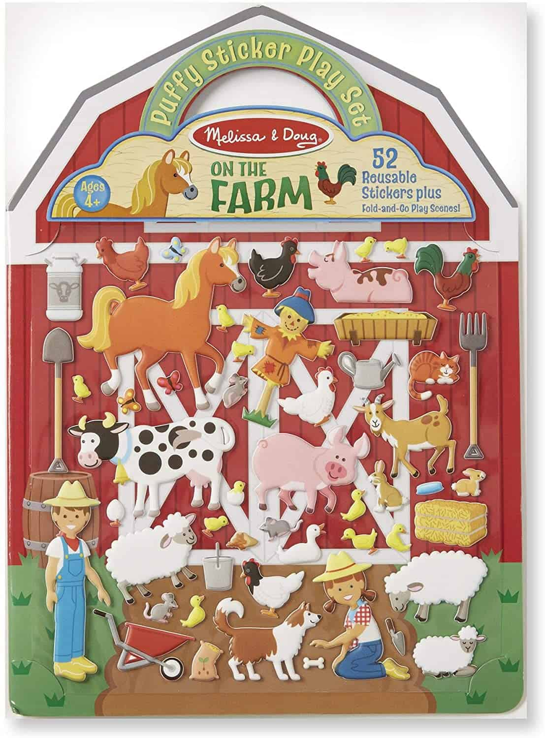puffy sticker farm set