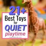 kids quiet toys giraffe with title sign