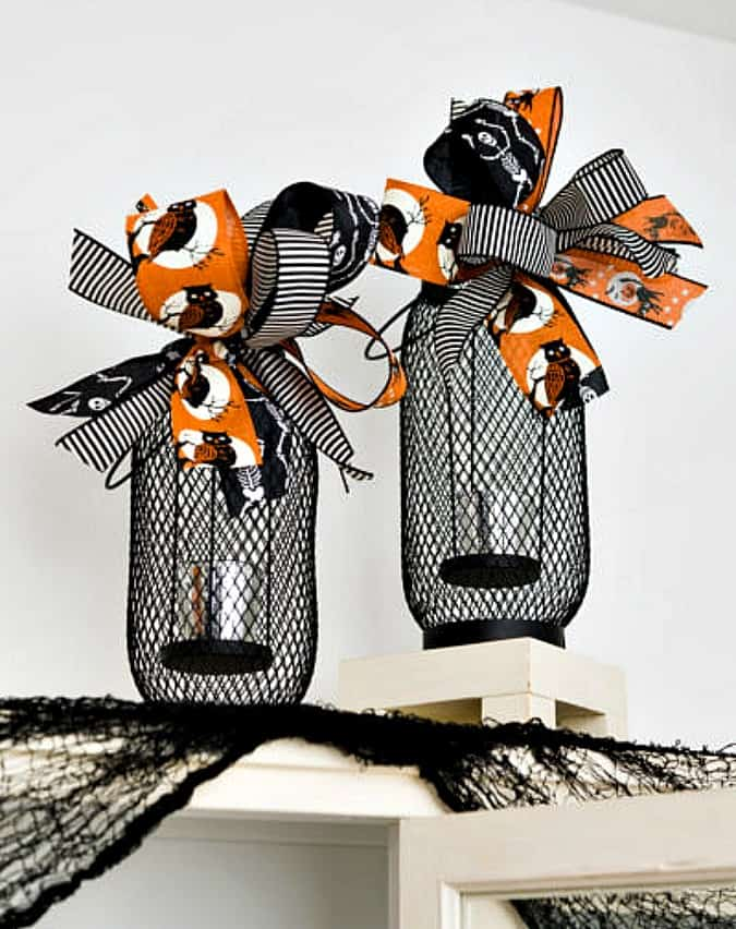 tuesday turn about 71 black and orange lanterns with bows