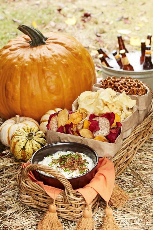 pumpkin and fall appetizer spread