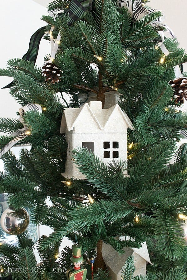 christmas decor and diy ideas sparkly house ornament in tree