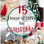 christmas decor and diy ideas collage of different christmas projects
