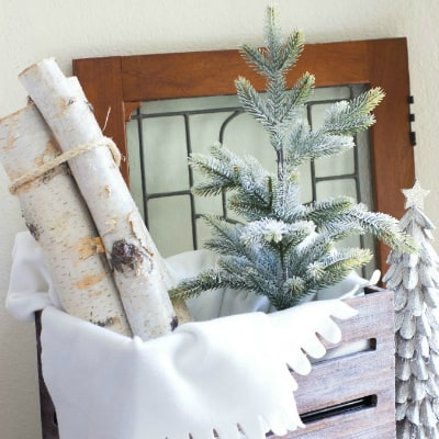 How To Add a Crate to Your Winter Decor