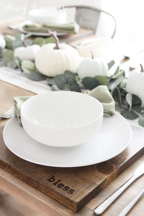 tuesday turn about wood diys wood charger with a white place setting