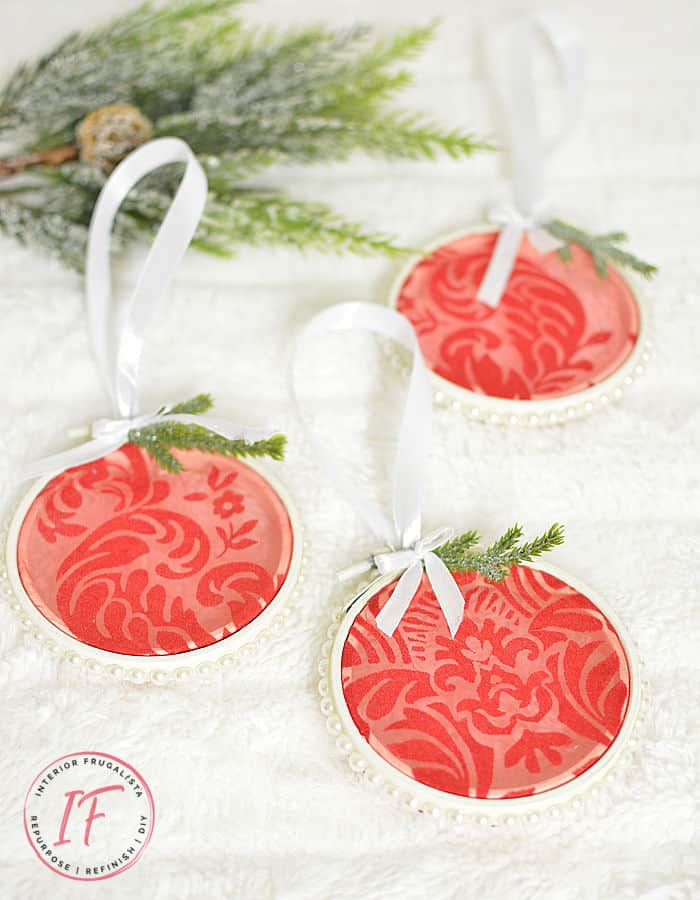 tuesday turn about hoop ornaments with red centers and pearls
