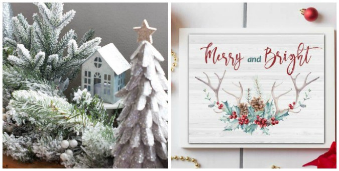 tuesday turn about 76 garland with house and christmas printable