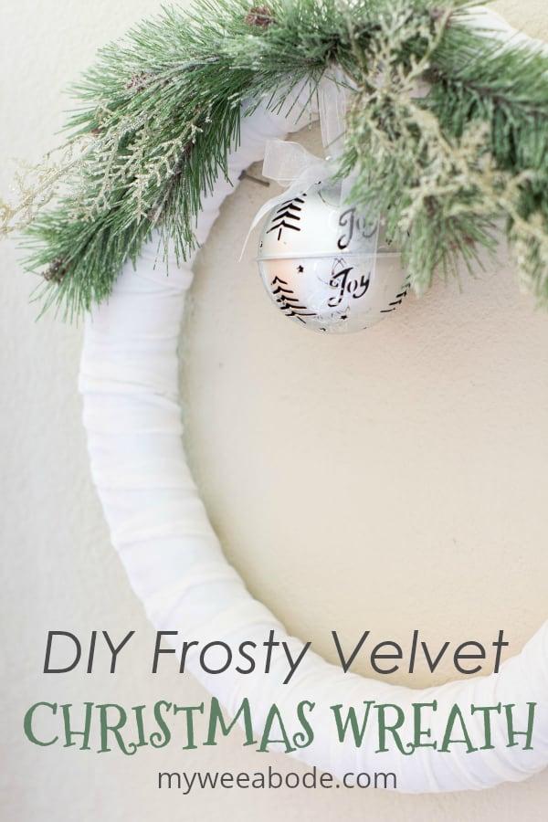 frosty velvet christmas wreath