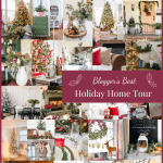 frosty christmas tiny home tour collage