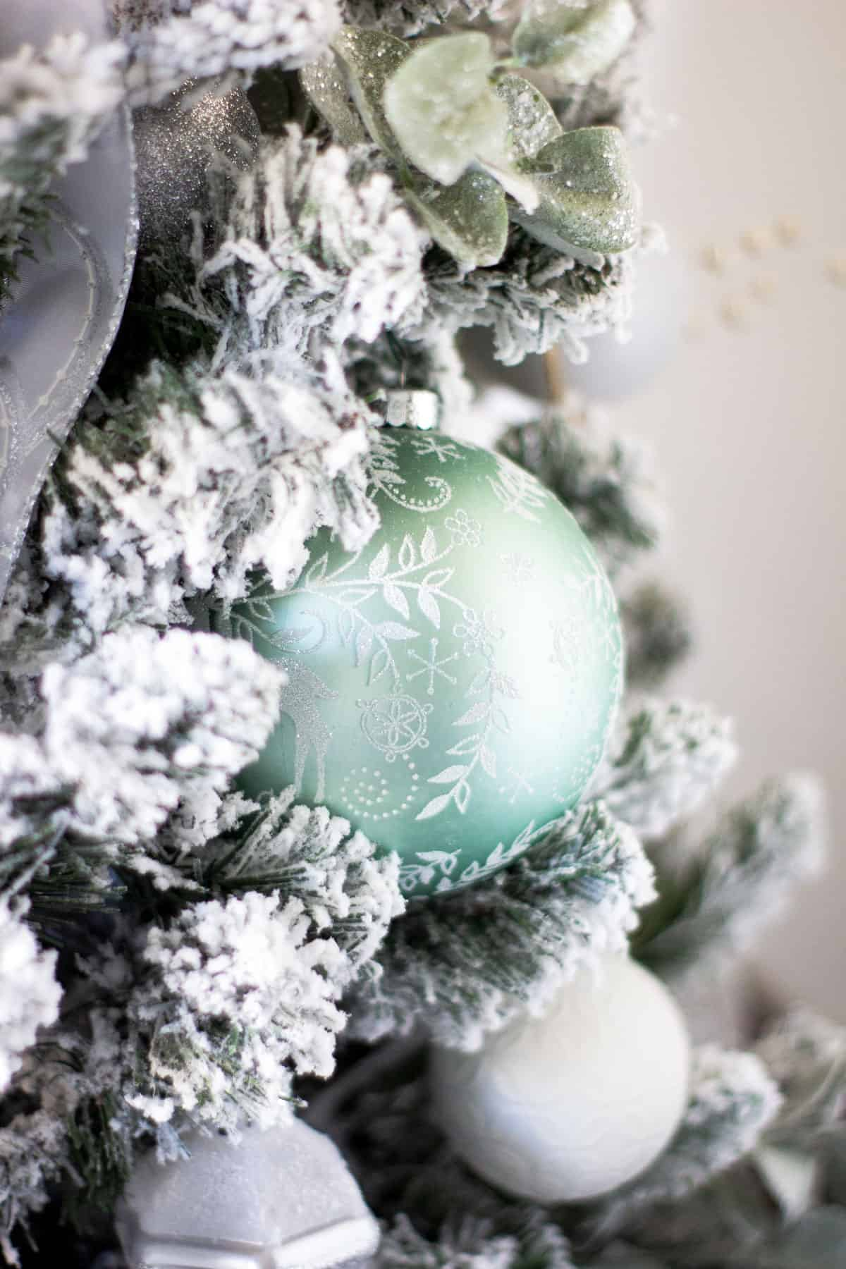 frosty minty christmas trees apartment living room with decor