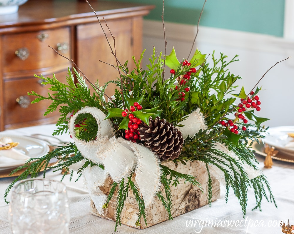 tuesday turn about 80 christmas tablescapes centerpiece on table