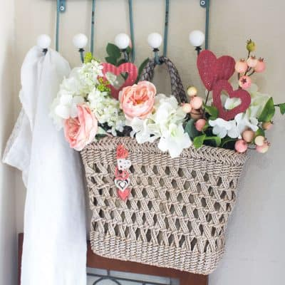 Add a Little Spice with a Valentine Door Tote Pinterest Challenge