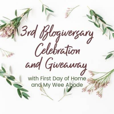 Third Blogiversary Celebration and Giveaway