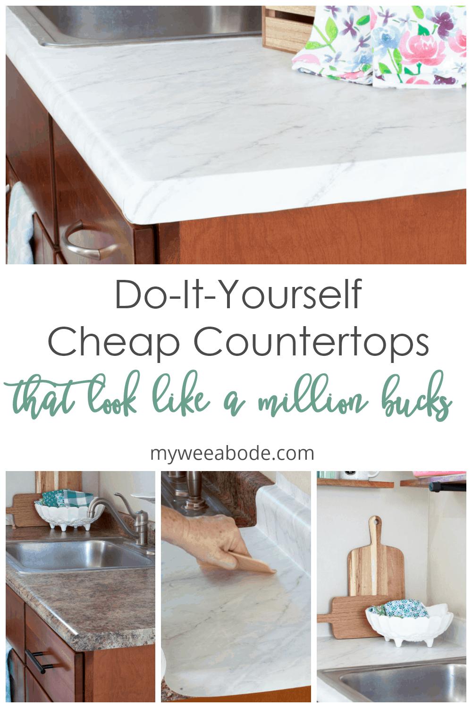 DIY countertops with tutorial pics