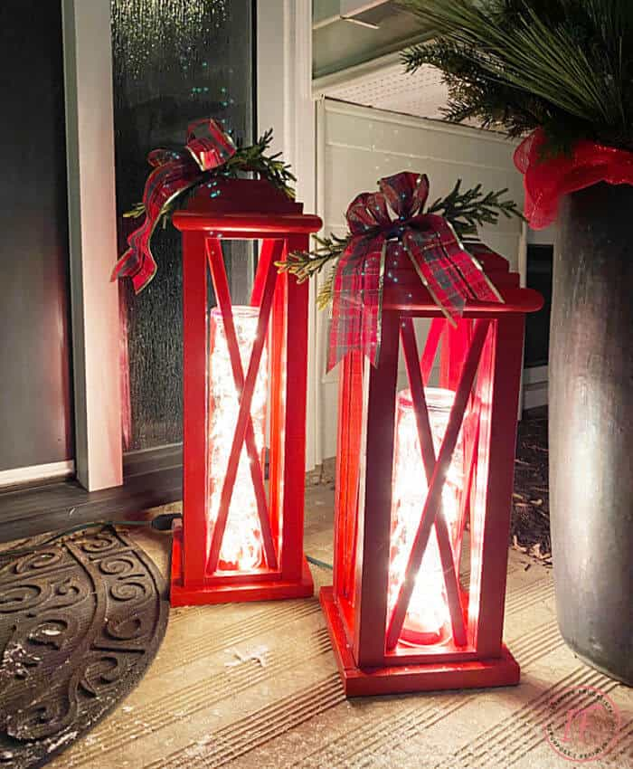 tuesday turn about winter tidbits red lanterns on a night porch