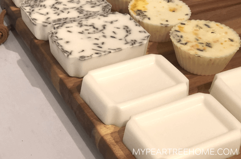 last minute diy gifts handmade soaps on wooden surface